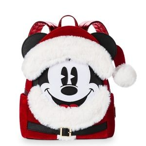 Santa Mickey Mouse Mini Loungefly Backpack